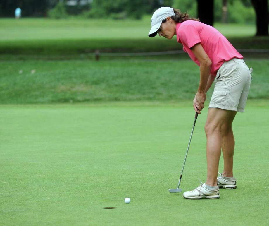 Jen Kaplan plays in the 2012 Stamford Amateur Golf Championship at E.G. Brennan golf course on Saturday, July 28, 2012. Photo: Lindsay Niegelberg / Stamford Advocate