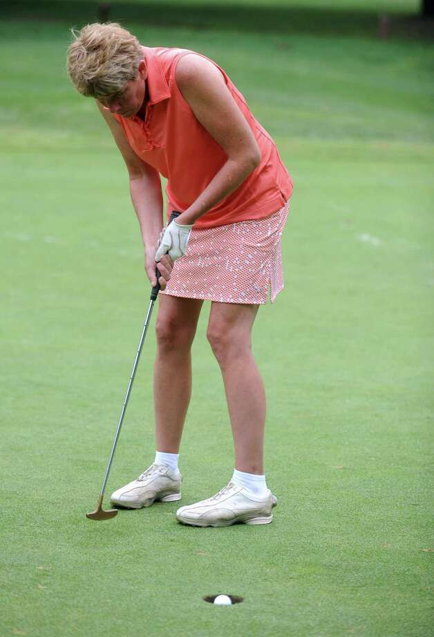 Eileen DeMarkey plays in the 2012 Stamford Amateur Golf Championship at E.G. Brennan golf course on Saturday, July 28, 2012. Photo: Lindsay Niegelberg / Stamford Advocate