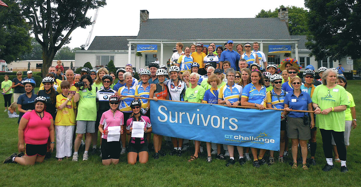 Cancer survivors are celebrated at the start of the Connecticut Challenge bicycle fundraiser Saturday at the Fairfield County Hunt Club in Westport.