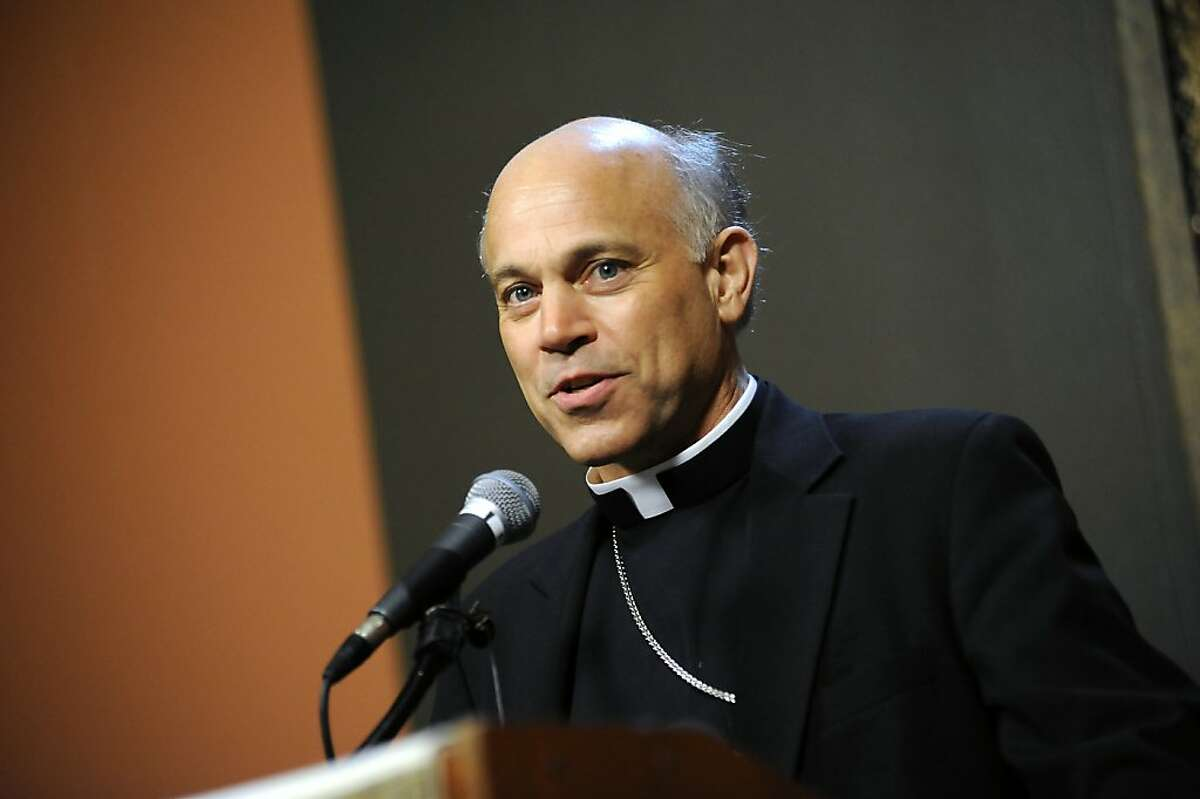 Oakland Bishop Salvatore Coridileone speaks during a press conference held at St. Mary's Cathedral in San Francisco Friday July 27, 2012, after his appointment as San Francisco's archbishop.