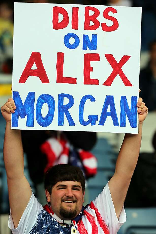 GLASGOW, SCOTLAND - JULY 28: A USA fan holds up a sign during the Women's Football first round Group G match between United States and Colombia on Day 1 of the London 2012 Olympic Games at Hampden Park on July 28, 2012 in Glasgow, Scotland.  (Photo by Stanley ChouGetty Images) Photo: Stanley Chou, Getty Images