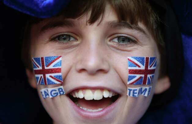 CARDIFF, WALES - JULY 25:  A GB fan shows his support during the Women's Football first round Group E Match of the London 2012 Olympic Games between Great Britain and New Zealand at Millennium Stadium on July 25, 2012 in Cardiff, Wales.  (Photo by Julian Finney/Getty Images) Photo: Julian Finney, Getty Images / 2012 Getty Images