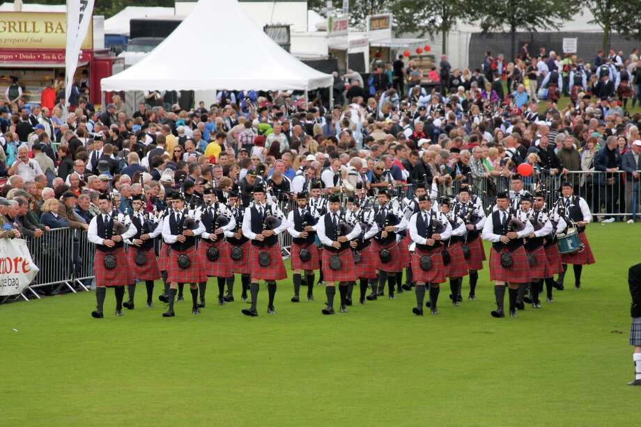 The Oran Mor Pipe Band performs at the World Pipe Band Championships in Glasgow, Scotland in August 2011. (Photo provided) Photo: Picasa