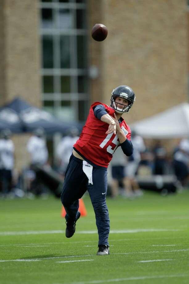 Seahawks quarterback Matt Flynn passes. Photo: AP
