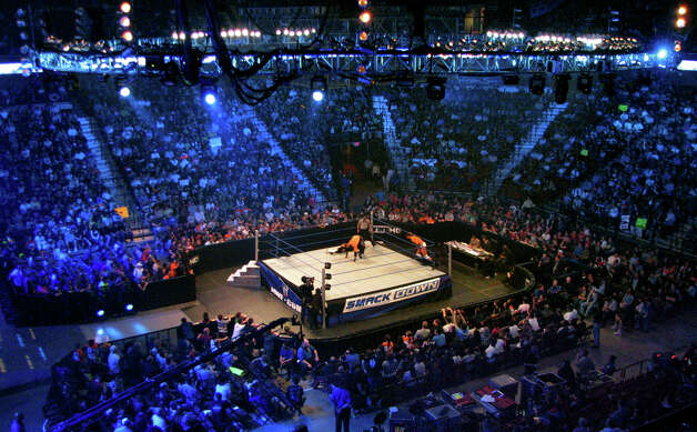 World Wrestling Entertainment (WWE) held its Smackdown event at Mohegan Sun in Uncasville, Conn., on April 20, 2010. Photo: Christian Abraham, ST / Connecticut Post no sale