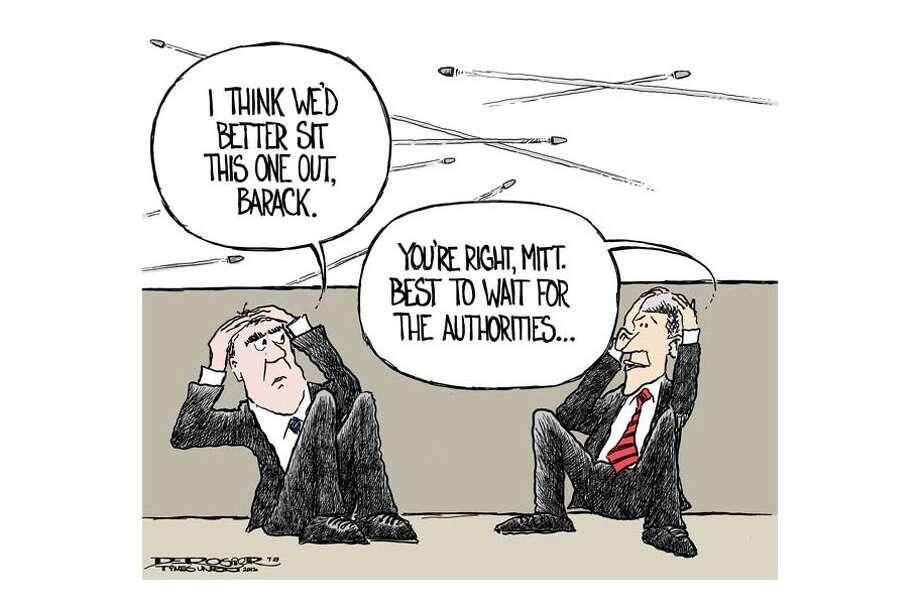 Mitt Romney, Barack Obama fail to lead on gun control. Photo: John De Rosier