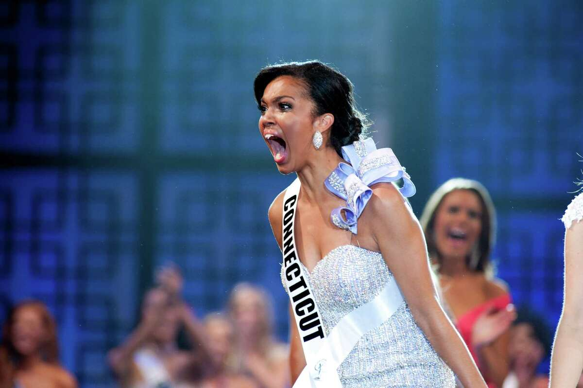 Miss Connecticut Teen USA 2012, Logan West, reacts to being crowned Miss Teen USA 2012. West, 18, is from Southington, Conn. She will spend the year of her reign sharing a New York apartment with Miss Universe and Miss USA, and making public appearances on behalf of various charities.