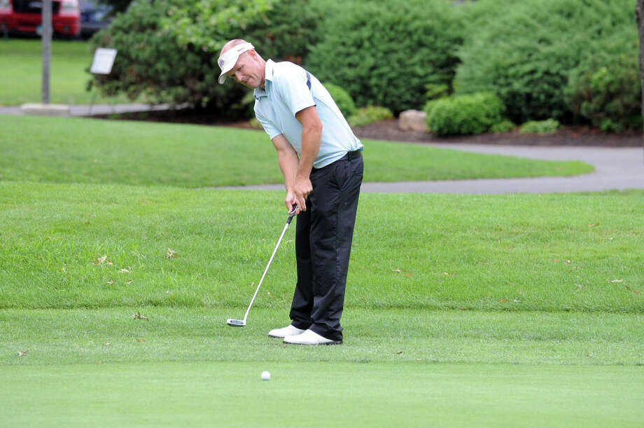 Cahal McMonagle in action during the 2012 Stamford Amateur Golf Championship at Sterling Farms Golf Course in Stamford, Conn., July 29, 2012. Photo: Keelin Daly / Stamford Advocate