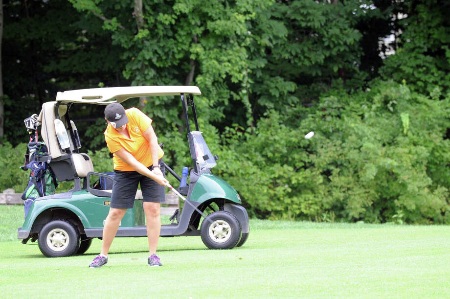 Jeanette Chagaris in action during the 2012 Stamford Amateur Golf Championship at Sterling Farms Golf Course in Stamford, Conn., July 29, 2012. Photo: Keelin Daly / Stamford Advocate