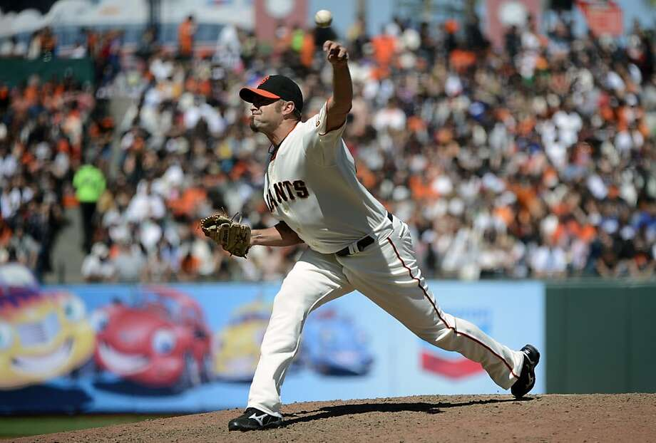 SAN FRANCISCO, CA - JULY 29: Jeremy Affeldt #41 of the San Francisco Giants pitches in the eighth inning against the Los Angeles Dodgers at AT&T Park on July 29, 2012 in San Francisco, California.  (Photo by Thearon W. Henderson/Getty Images) Photo: Thearon W. Henderson, Getty Images