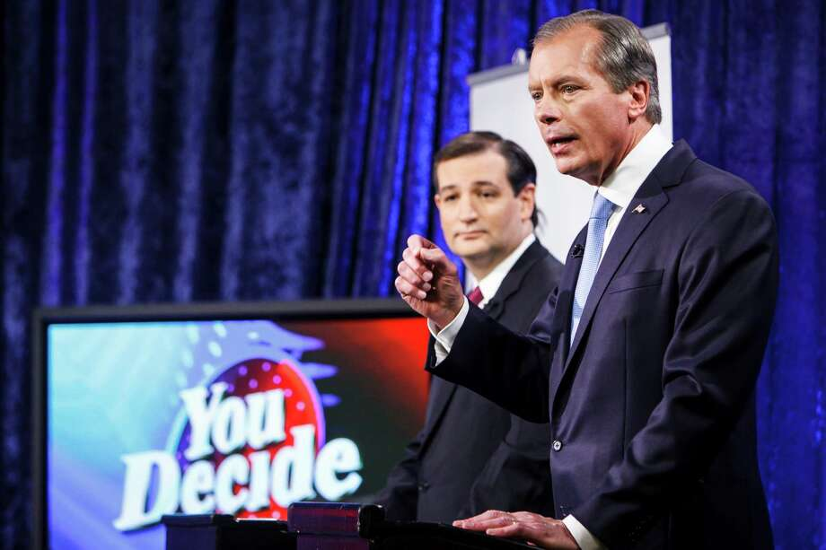 The winner of Tuesday's GOP runoff - Ted Cruz, left, or David Dewhurst - will likely be the next U.S. senator from Texas. Photo: Michael Paulsen / © 2012 Houston Chronicle