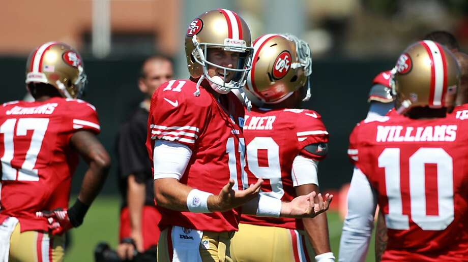 The 49ers' defense was tough on offenses all year in 2011, and it hasn't been any different for Alex Smith and company in camp. Photo: Lacy Atkins, The Chronicle
