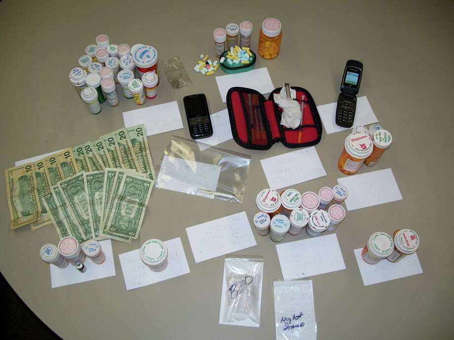 These items were confiscated from the Lumberton residence Tuesday night during the drug bust. Photo: Courtesy Of HSCO