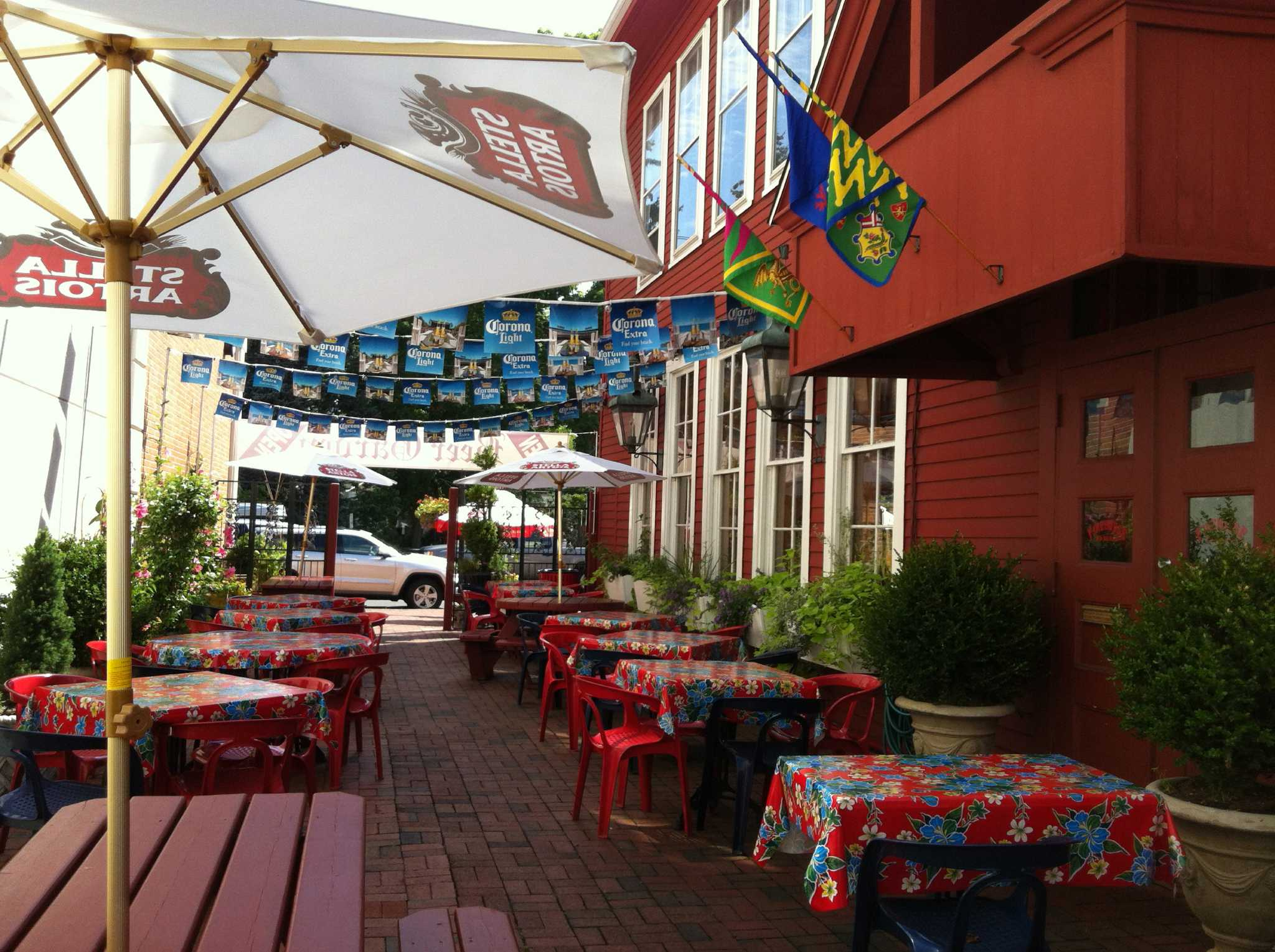 Tapped in firehouse deli opens german beer garden fairfield citizen for What is a beer garden