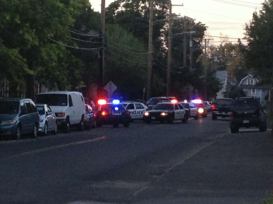 Police in Norwalk, Conn. responded to a report of shots fired at the corner of Woodward Avenue and Meadow Street on the night of Sunday, July 29, 2012. Photo: Contributed Photo