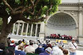 Golden Gate Park's Band is playing at the Music Concourse in San Francisco, Calif. on Sunday, July 29, 2012.