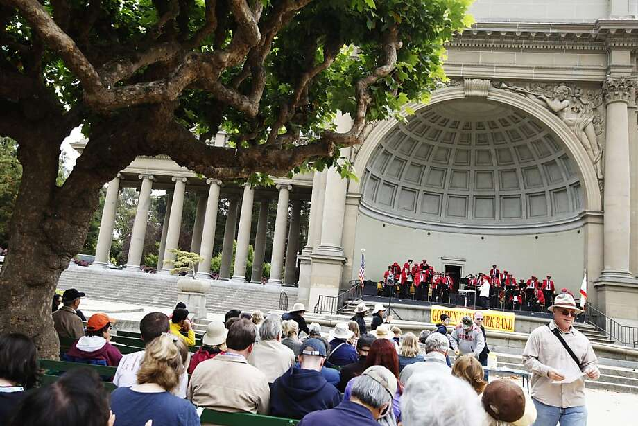 Golden Gate Park's Band is playing at the Music Concourse in San Francisco, Calif. on Sunday, July 29, 2012. Photo: Sonja Och, The Chronicle