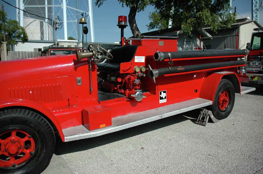 A model of an Alamo Heights fire engine was on display at City Hall during the July 23 City Council meeting as part of the city's 90th anniversary party. Photo: Courtesy Photo