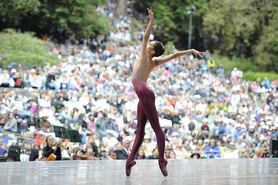 Jeanette Kakareka performs Thatcher's Spinae at Stern Grove on Sunday, July 29, 2012 in San Francisco, Calif. Photo: Erik Tomasson, SF Ballet