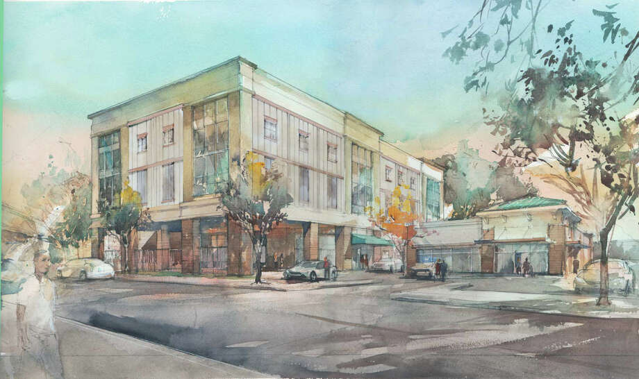 This artist's rendition depicts the building that will replace a dilapidated property at 2101 Commerce Drive in Bridgeport. Self Storage Group Development of Brookline, Mass., broke ground for its newest storage facility this month. Contributed graphic. Photo: Contributed