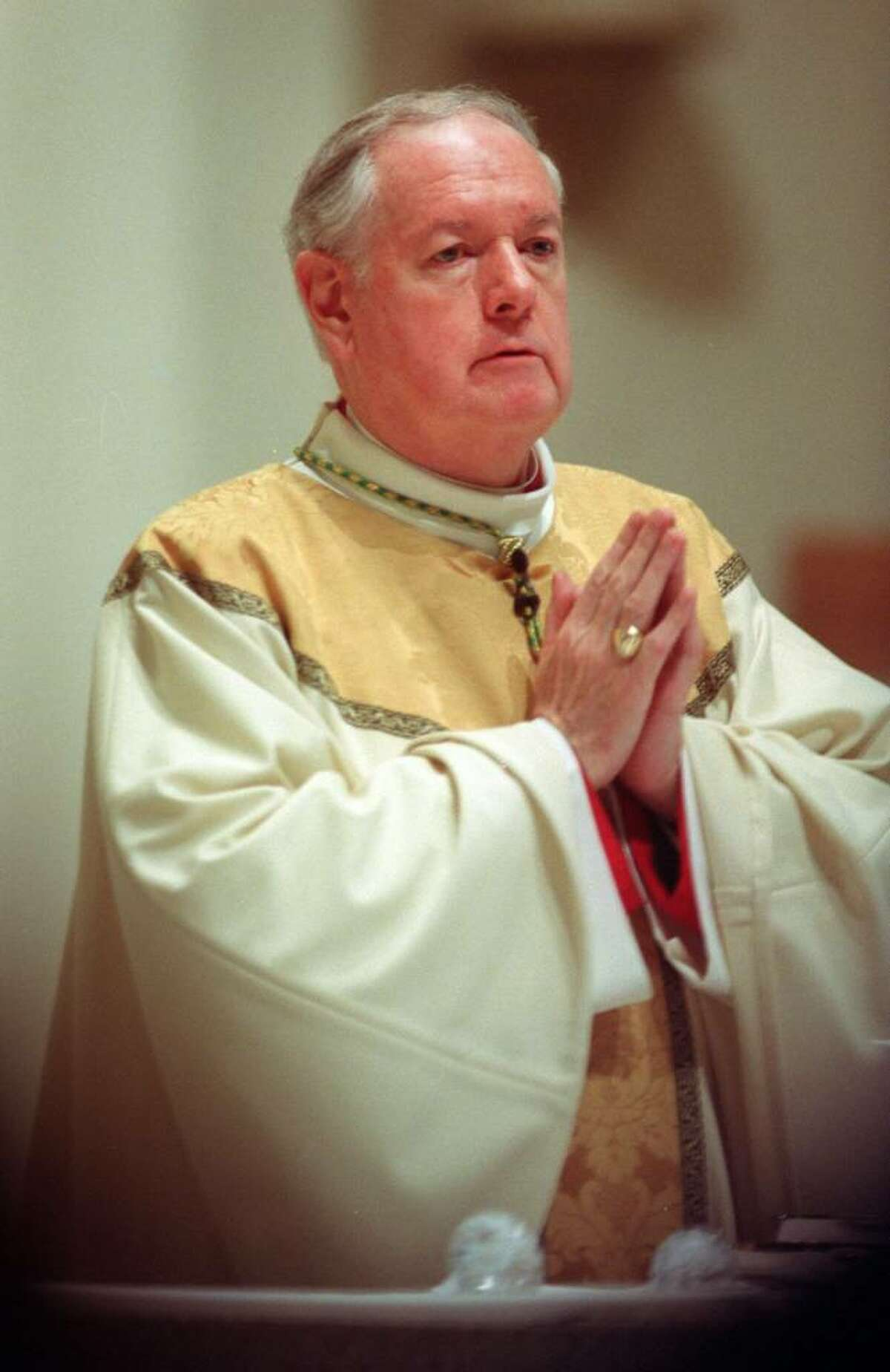 Cardinal Edward Michael Egan, photographed in Bridgeport, Conn., date unknown. Egan served as Bishop of the Roman Catholic Diocese of Bridgeport from 1988-2000.