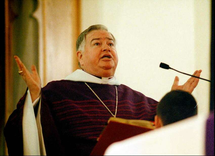 Charles Stubbs, former Pastor at St. Mary's, said his farewell Mass on Sunday, Feb. 23, 1997.
