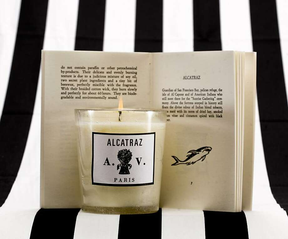 The Alcatraz Candle by Astier de Villatte is seen on Friday, July 27, 2012 in San Francisco, Calif. Photo: Russell Yip, The Chronicle