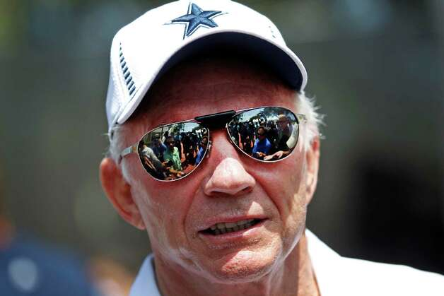 Dallas Cowboys team owner Jerry Jones speaks following a press conference Sunday July 29, 2012 in Oxnard, California. (Ron Jenkins/Fort Worth Star-Telegram/MCT) Photo: Ron Jenkins, MBR / Fort Worth Star-Telegram