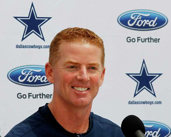 Dallas Cowboys head coach Jason Garrett attends a press conference Sunday July 29, 2012 in Oxnard, California. (Ron Jenkins/Fort Worth Star-Telegram/MCT) Photo: Ron Jenkins, MBR / Fort Worth Star-Telegram