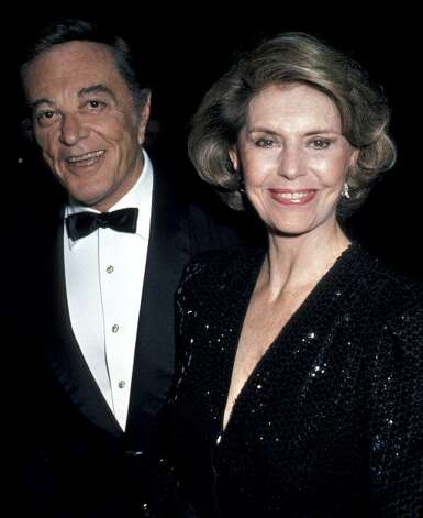 "Tony Martin and Cyd Charisse during ""White Nights"" Los Angeles Premiere at Samuel Goldwyn Theater in Beverly Hills, California, United States. (Jim Smeal / WireImage)"