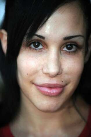 """Octomom"" Nadya Suleman is among the more than two dozen celebrities and public officials targetted by an as-yet unidentified group of hackers. (GABRIEL BOUYS / AFP/Getty Images)"