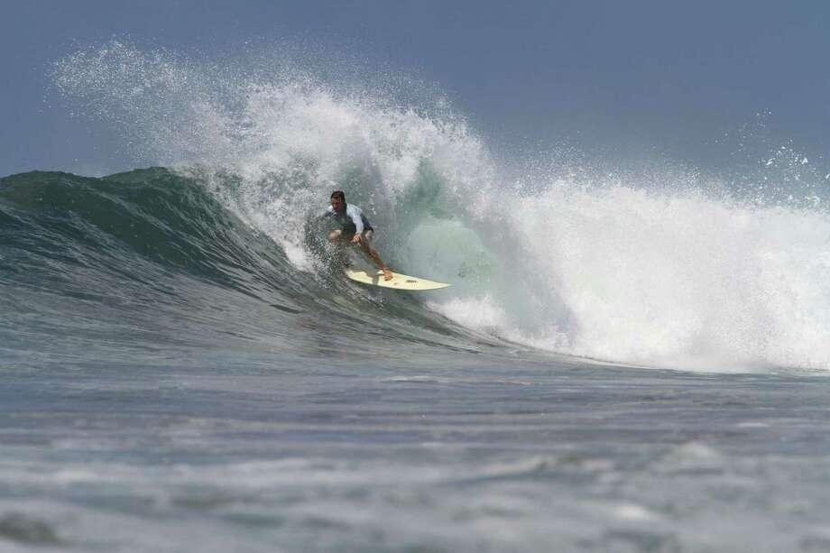 Mick Horrocks rides a board made by Houstonian Stephen Pearson in Playa Negra, Costa Rica. Photo: Stonefishfoto.com