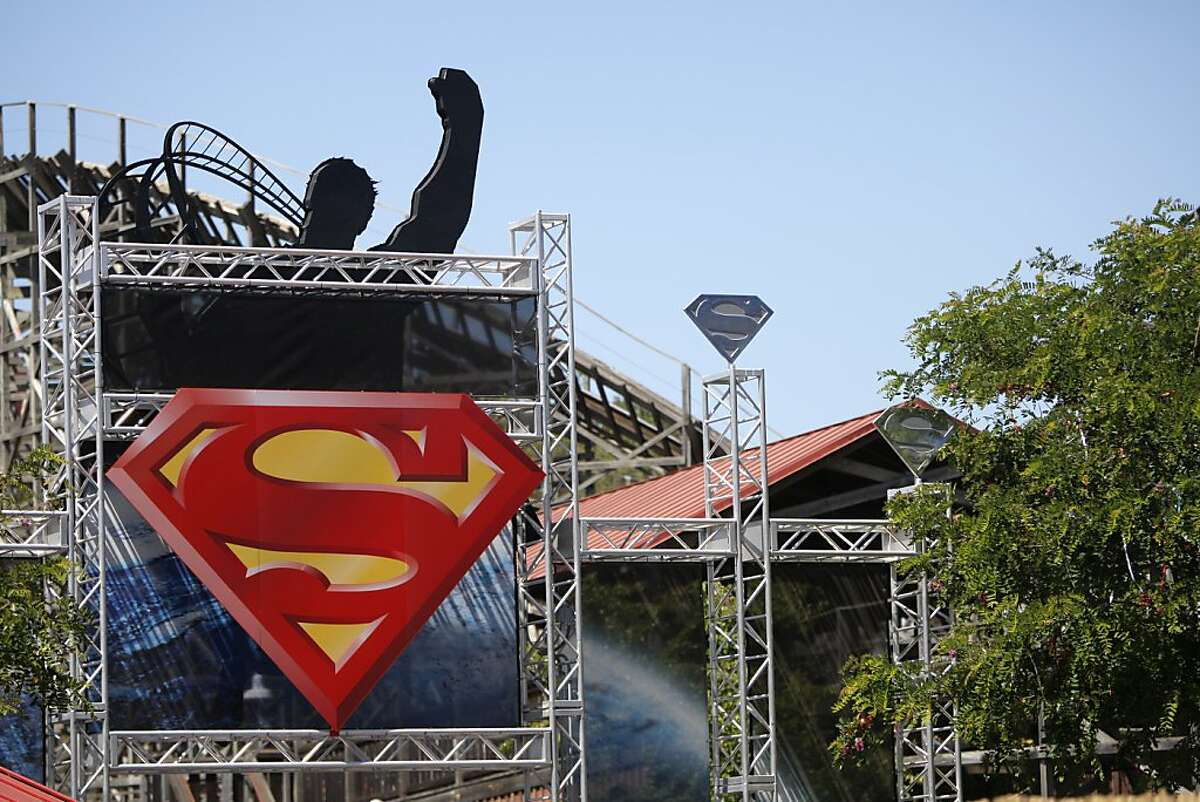 The superman roller coaster at Six Flags in Vallejo is seen on Monday, July 30, 2012, in Vallejo, Calif.