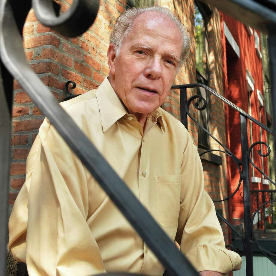 Author William Kennedy outside his Albany townhouse Wednesday Sept. 14, 2011.  (John Carl D'Annibale / Times Union) Photo: John Carl D'Annibale / 00014624A