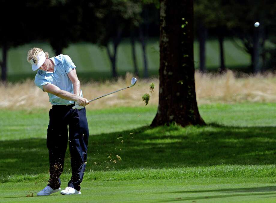 Tommy McDonagh of East Norwalk hitting from the fairway on the 8th hole at the78th Connecticut Open golf Championship played at Wee Burn Country Club, Darien, CT on Monday July 30th, 2012. Photo: Mark Conrad / Stamford Advocate Freelance