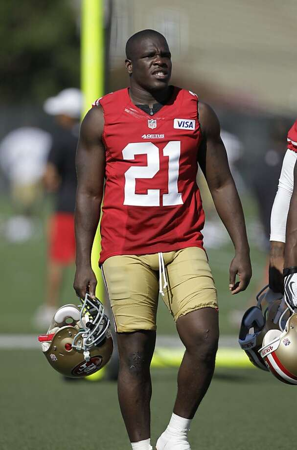 San Francisco 49ers running back Frank Gore (21) during training camp at 49ers NFL football headquarters in Santa Clara, Calif., Friday, July 27, 2012. (AP Photo/Paul Sakuma) Photo: Paul Sakuma, Associated Press