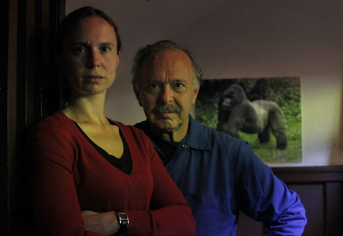 Richard Muller and his daughter Elizabeth stand in their home, Monday July 30, 2012, in Berkeley, Calif. Formerly vocal skeptics of global warming they are now releasing studies showing that humans are responsible of the warmup.
