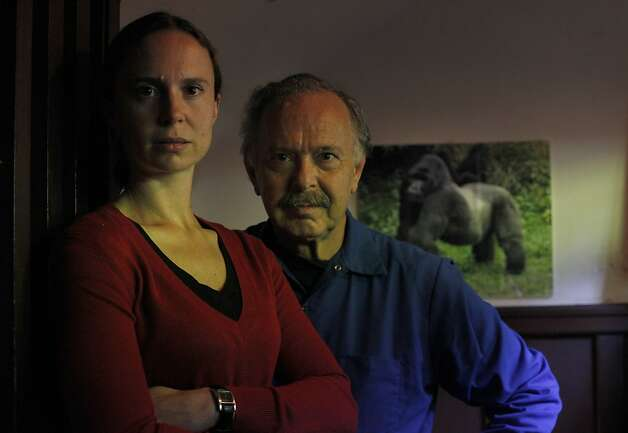 Richard Muller and his daughter Elizabeth stand in their home, Monday July 30, 2012, in Berkeley, Calif. Formerly vocal skeptics of global warming they are now releasing studies showing that humans are responsible of the warmup. Photo: Lacy Atkins, The Chronicle