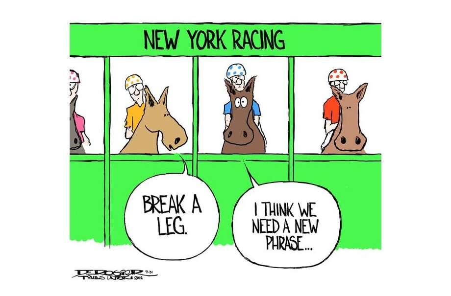 Race horses in New York dying on the tracks. Photo: John De Rosier