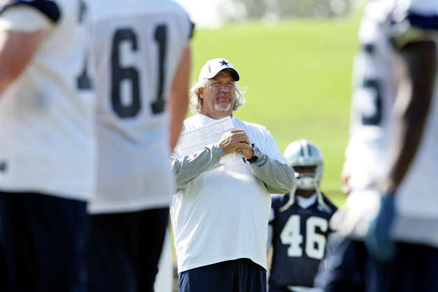 Dallas Cowboys defensive coordinator Rob Ryan watch the team practice during the first day of their 2012 training camp held Monday July 30, 2012 in Oxnard, CA. Photo: Edward A. Ornelas, San Antonio Express-News / © 2012 San Antonio Express-News