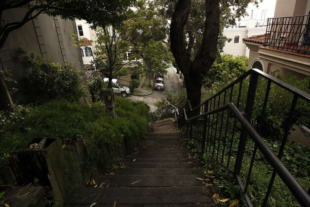 Francisco steps: The Francisco steps run up the shoulder of Telegraph Hill. Photo: Siana Hristova, The Chronicle