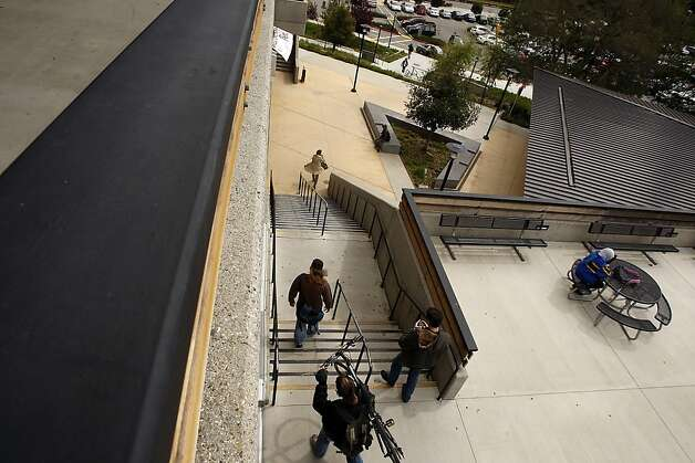Foothill College: Foothill College's 105 concrete steps are part of a lower-campus expansion at the Los Altos Hills site. Photo: Siana Hristova, The Chronicle