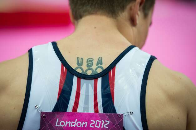 Jonathan Horton of the USA prepares for his routine on the still rings during the men's gymnastics team final at the 2012 London Olympics on Monday, July 30, 2012. The USA finished in 5th place. (Smiley N. Pool / Houston Chronicle)