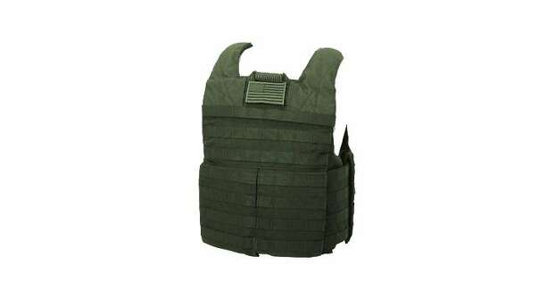 The arms and neck/face area are most often targeted in a zombie attack. So it's a good thing to wear this bullet proof body armor for your chest and torso.  (OpticsPlanet)