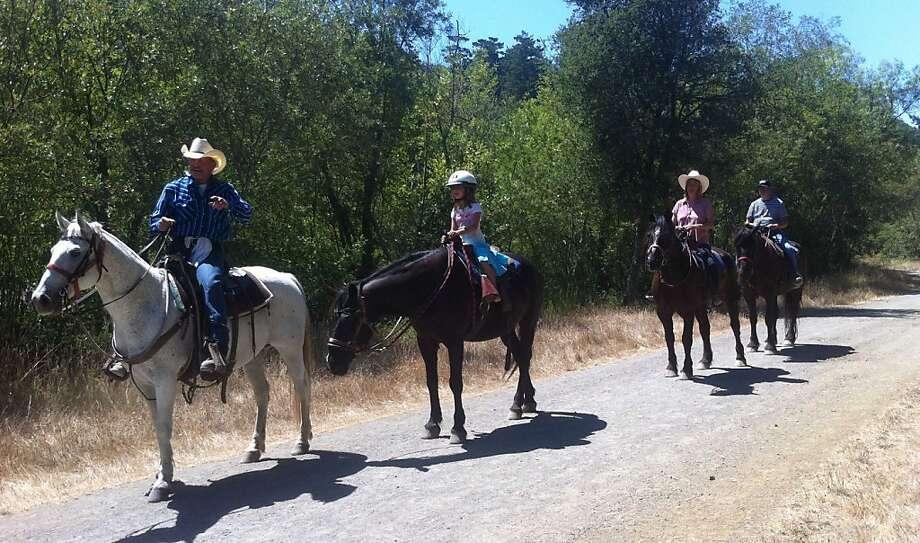 Horseback riding at Five Brooks Ranch. Photo: Andrew Loose
