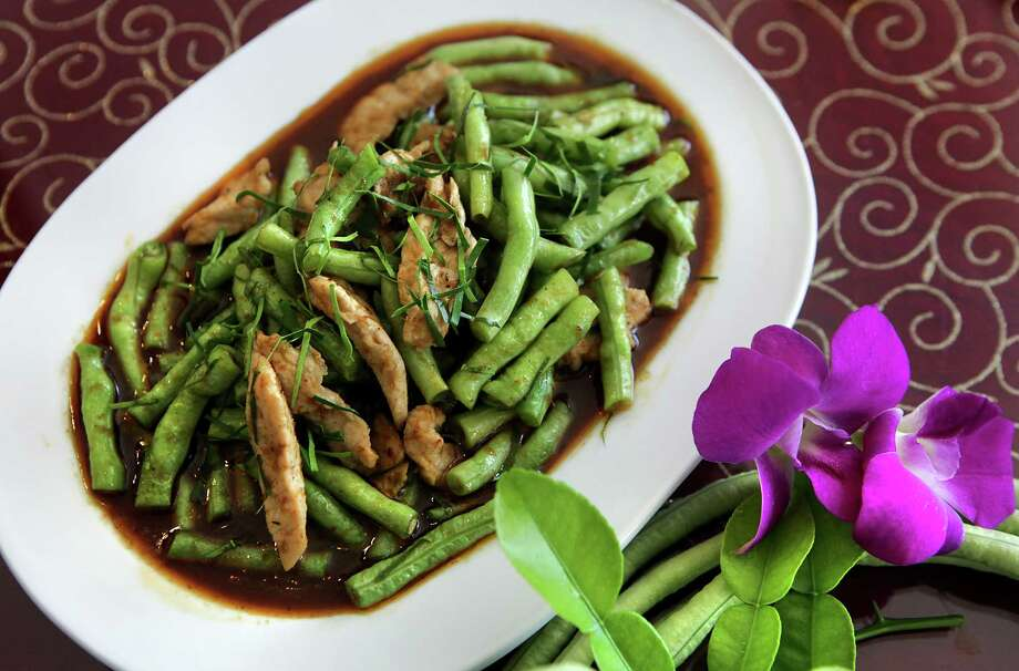 Green Beans and Pork in Red Curry called Pad Prik King, from Sarika's.  Monday, July 23, 2012. Photo: BOB OWEN, San Antonio Express-News / © 2012 San Antonio Express-News