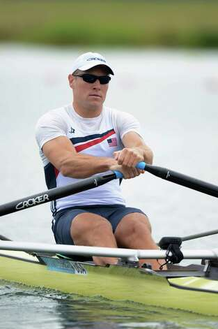 Kenneth Jurkowski of the United States competes in the Men's Single Sculls on Day 4 of the London 2012 Olympic Games at Eton Dorney at Eton Dorney on July 31, 2012 in Windsor, England. Photo: Harry How, Harry How/Getty Images / 2012 Getty Images