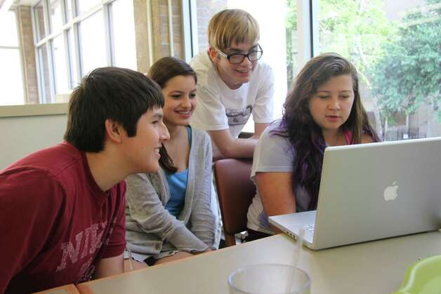 Pictured left to right are SVHS media team members Orlando Mendiola, Jaydin Duarte, Eric Lindholm and Taylor Harrell. Photo: Courtesy Photo