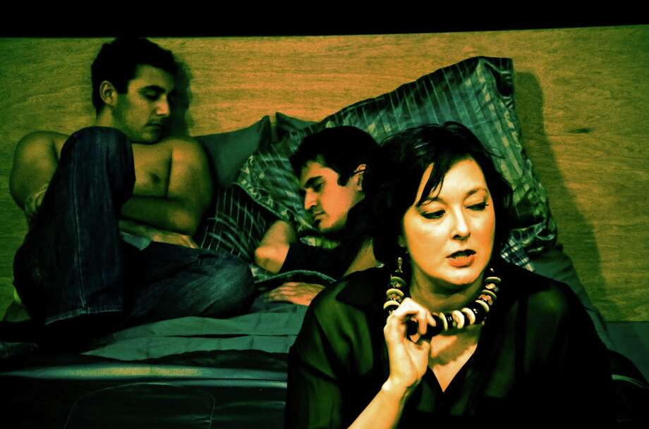 "Aaron Aguilar, Travis Trevino and Emily Spicer appear in ""The Little Dog Laughed."" Courtesy Siggi Ragnar"