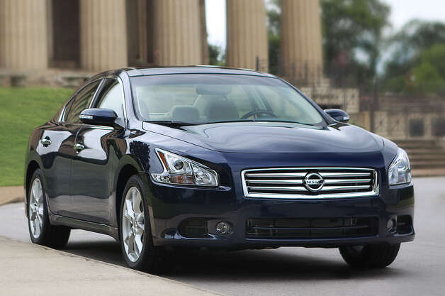"The 2012 Nissan Maxima sedan, billed as a ""four-door sports car,"" has plenty of power and is more fun to drive than the typical family car. Beyond that, it's roomy and quite comfortable, with a long list of standard amenities and safety features. Photo: Mike Ditz, Nissan North America Inc. / ©2008"